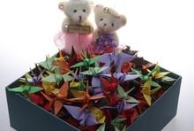 Wholesale Handmade Origami Paper Cranes For Valentine,Decoration,Wedding, Birthday, Festiaval, Party