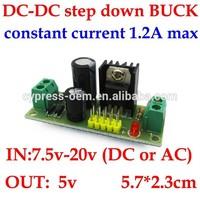 DCDC / AC DC step down power supply module buck inverter dc / ac 7.5V 8V 9V 12V 15V 16V 18V 19V 20V to dc 5V circuit board