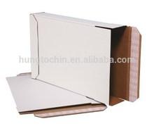 Hungtochin Pack custome logo and size corrugated white side loading locking boxes