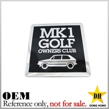 China supplier custom zinc alloy metal square replacement car emblem