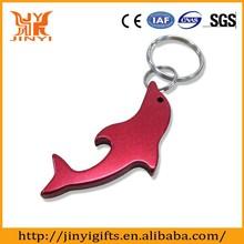 Aluminum material made dolphin stype bottle opener keyring