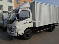 refrigerated box truck for sale/ light fresh meat trucks incity dry cargo van
