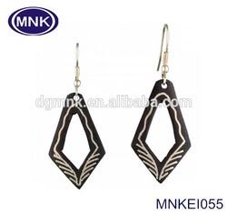 Fashion Modeling China Wholesale Stianless Steel Black Earrings