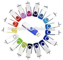 4G Premium Metal/White Swivel USB Flash Memory Drive ( Stick / Thumb / Pen ) 4GB