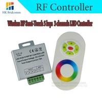 Wireless RF Semi-Touch 5 keys 3 channels LED Controller/Dc 12 v / 24 v /14 function modes