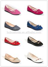 ladies PU flat shoessmall orders ladies shoes guangzhou