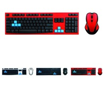 Best price keyboard and mouse combo HK3930 red keyboard 2.4 G wireless For Computer, Any Language Layout