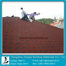 Hexagonal Asphalt Bitumen tile shingle Roofing HOT sale in Asian roof materials Market