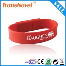 2014 Newest design Custom Colorful Silicone bracelet usb flash drive