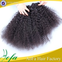 Wholesale highest quality full cuticle 100% afro kinky human hair for braiding