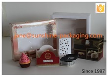 OEM window cardboard cake box
