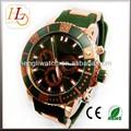 marca de luxo 10 atm moda resistente à água do aço inoxidável caso banda de silicone relógios dos homens