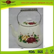 Stainless Steel handle 6L Enamel Cool Tea Kettle