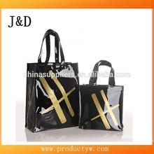 2015 Customized Fashion Waterproof Shiny PVC Shopping Bag