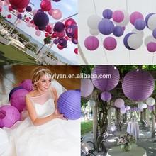 2015 hot sell handmade wedding paper lanterns mixture fashion paper lantern for wedding party