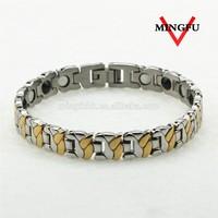 316L SS custom magnetic ion healthy bracelet for diabetic