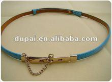 2012 new western style slender ladies fashion fancy belt with metal tassel