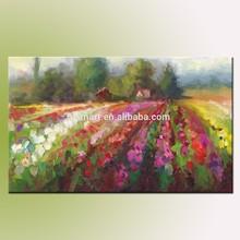 High Quality Handmade Abstract Plein Air Landscape Of Swan Island Dahlias Oil Painting