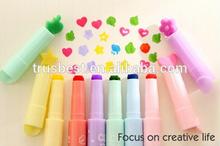 6 pcs/lot rotuladores colores multiple digital highlighter pen maker pen articulos de papeleria stionery escolar