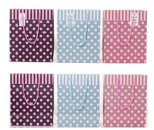 2015 printed paper bag / hot sale paper gift bag / with handles christmas pink zebra paper gift bag