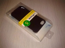 offset printing folding plastic box with blister tray for i phone 5