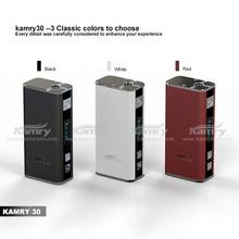 Super 2000mah big ecig ego battery hot mini box mod 30w Kamry30 18650 battery cheapest wholesale price