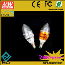 Hot e14 led candle light bulb