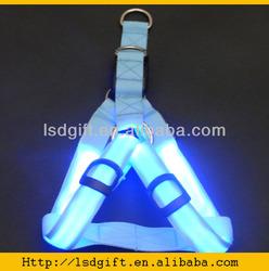 Wholesale Adjusted Nylon LED flashing dog LED pet harness