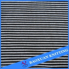 Polyester spandex knitted black and white stripe fabric