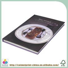 cheap custom full color hard cover cooking book printing