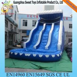 2015 New Design Inflatable Water Slide ,Double Lane Slip Slide Water Slide ,Swimming Pool