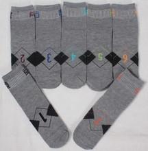 customized mid calf antibacterial funny week socks for mens