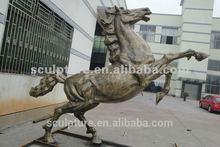 High quality large brass horse sculpture animal sculpture art