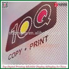 black vinyl windows printing No lamination one way sticker