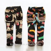 Kz-5531 venta al por mayor moda invierno de los niños ropa de niños ropa niños de las muchachas de corea sexy pantalones