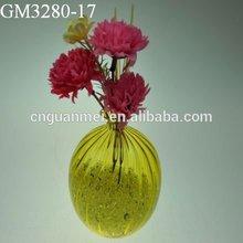 Wholesale colorful glass flower vase for decoration