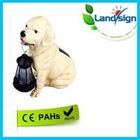 solar light factory landsign 1 LED white/red/green/blue/yellow/color changing solar dog garden light,