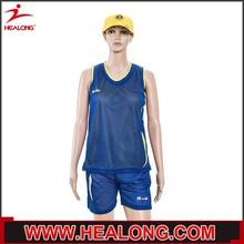 new design college team 100 polyester mesh womens basketball uniform design
