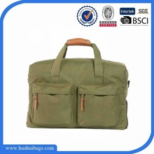 Simple green army duffel bag for male