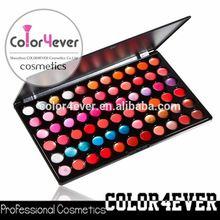 Wholesale private label makeup 66colors lipgloss palettes unique translucent lip gloss