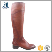 New arrvial over the knee rubber os leather women boots