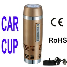 12v stainless steel drinking cups thermo mug electric water heater HOT and COOL BMW travel car auto thermos cooler