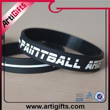 Custom design silicon bracelet embossing