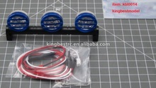 Round RC Roof Top 3 pcs Led Spot Light Set For 1/10 Car Off-Road Buggy Traxxas HSP- kbl0014
