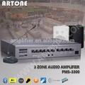 Pms-3180 180w 3 zone en ligne amplificateur de voix