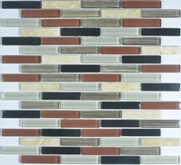 2015 NEW GLASS MOSAIC FOR KITCHEN ,BATH ROOM AD819004 FOR INDONESIA