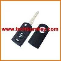 Techtium 3 button modified folding flip remote key blank for Mazda 3,6 series,CX7,323,626,RX8,Premacy flip remote key blank