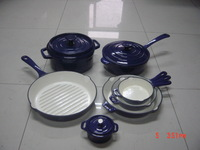 2015 new product enamel cast iron cookware set