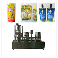 new standing sachet with spout pepper sauce filling and capping machine-YH