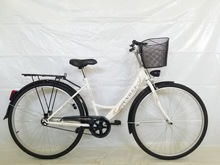 ladies white city bike GFP9P7